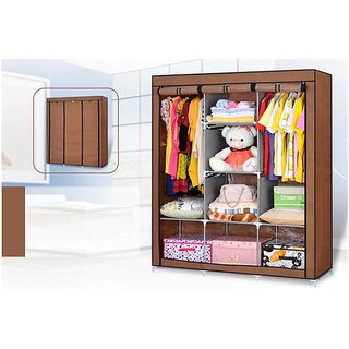 Ezzideals FANCY  FOLD-ABLE MULTI LAYER STORAGE SHELF RACK WARDROBE.