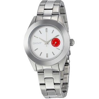 DKNY Round Silver Metal Analog Watch For Women
