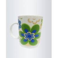 Pretty Blue Flower Printed Coffee Mugs By Returnfavors