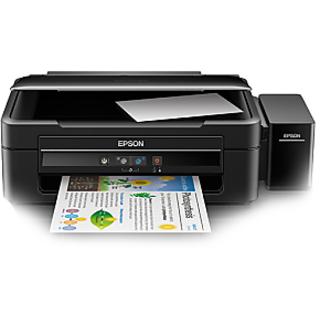 Epson L380 Multi-Function Inkjet Printer (Black) - With 2 Free Ink Bottles Black
