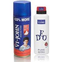 VI-JOHN Shave Foam 400GM For Hard Skin & VIJOHN Deo Energetic
