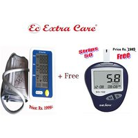 Extra Care Blood Pressure Monitor With Free Blood Glucose Monitoring System