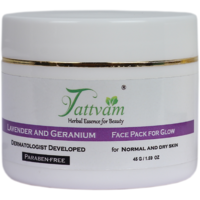 Face Pack - Lavender Geranium Face Pack - For Oily/ Dry/ Normal Skin- By Tattvam