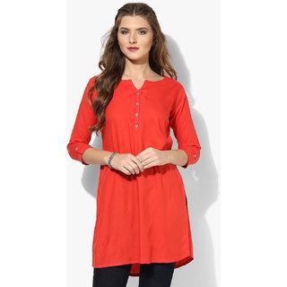 Aahwan Womens Red Short Kurtis