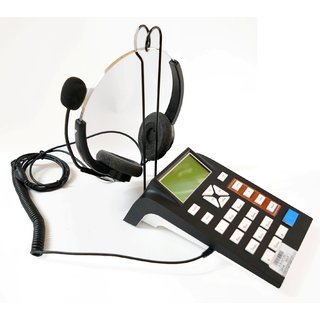 Call Center Headphone - landline telephone dialpad with headphone