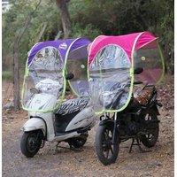 HOMEBASICS Universal Scooter / Bike Wet  Dry Umbrella all seasons polyester rainy summer For all 2 Wheeler (Set of 1)