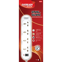 Eveready SG01 White 4 Socket Surge Protector (2.5 Mtr Wire With 1 Year Warranty)