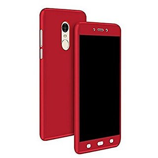 360 Full Body Protection PC Front  Back Cover Case For Redmi  Note 4 (RED)