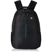 HP Blue Line Black Polyster Backpack