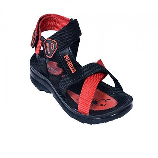 COMFORTABLE KIDS CASUAL SANDALS BLUE/ BLACK RED