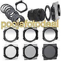 New 6pcs ND2 ND4 ND8 Gradual ND2 4 8 Filter Set + 9pcs Ring Adapter For Cokin P