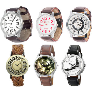 Fair Deal Marketing Combo of 6 Unisex Watches