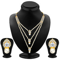 Sikka Jewels Silver Plated Multicolor Alloy Necklace Set For Women