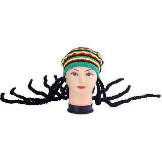 InnovationTheStore Bob Marley Cap With Wig