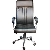 Executive Chair In Black Leatherette