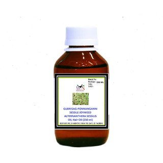 GUDRISAG PONNANGANNI SESSILE JOYWEED ALTERNANTHERA SESSILIS OIL Hair Oil (250 ml)