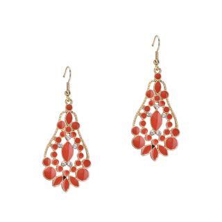 Fayon Weekend Party Orange Enamel Traditional Drop Earrings