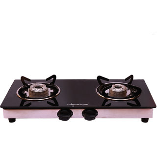 brightflame 2 Burner Black Glass Top - Compact Series