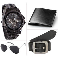 Jack Klein Combo of Belt And Wallet With Glasses And Wrist Watch