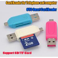 Pinnaclz PNZ OTG SD  MICRO Card Reader (Multicolour)