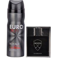 Combo Gift Set For Men (Set Of 2) Woods Silver  And Royale Deodorant