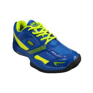 Port Mens Quick Force Multi Color PVC Badminton Shoes