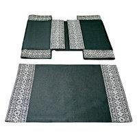 Sriam Black Royal Heritage Set Of 6 Table Mats