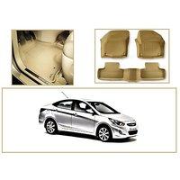 3D Mats - Hyundai Verna Fludic - Beige - Beige