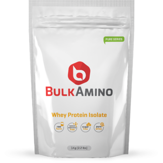 Advance Nutratech Bulkamino Whey Protein Isolate 1Kg 2.2 Lbs Unflavored Protein Supplement Powder
