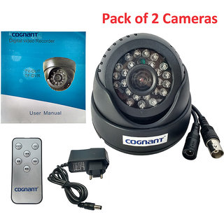 Cognant TV-OUT BNC CCTV Camera With Memory Card Slot (Pack of 2)