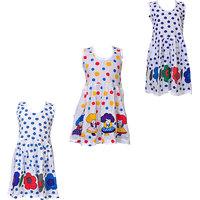 Pari Prince Girls Cotton Multicolor Frocks (Set of 3) (1 to 6 years)