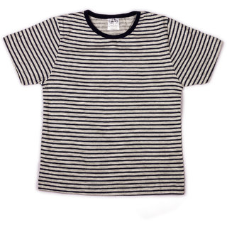 Navy stripe printed infant boys printed t shirt