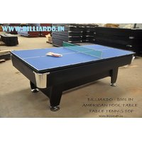 American Pool Table, Standard Size 8*4 With Table Tennis Table Cum Dining Table