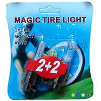 Colorfull Magic Tire Flashing Flash Wheel Lights For All Bikes & Cars