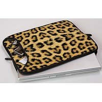 Designer Sleeves 17MS-LEO 17 Inch Laptop Sleeve (Brown, Gloden, Yellow)