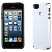 Speck Candy Shell Hybrid Back Cover Case For Apple IPhone 5S 5 - White/Charcoal