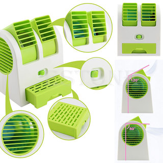 Mini Fan Air Cooler with Water Tray Portable Desktop Dual Bladeless Air Cooler USB New super Fan