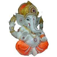 Lord Ganesha Sugar Mixture Idol Off White And Orange