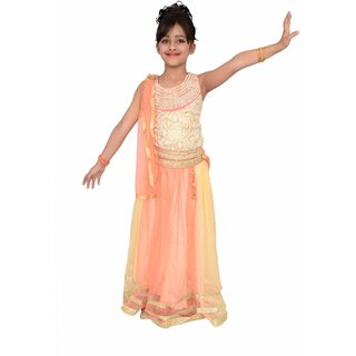 Arshia Fashions party wear kids lehenga choli girls - Embroidered