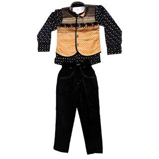 Arshia Fashions Boys Shirt Waistcoat and Trouser Set
