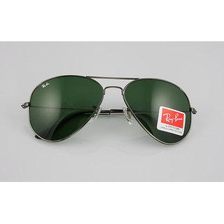 Black Green Aviator  Sunglasses