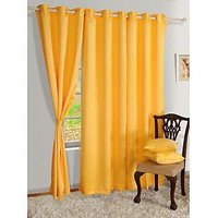 One Piece Set Of Plain Eyelet Door Curtain - 10 Option