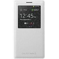 Samsung Galaxy Note 3 Case S View Flip Cover Folio - Cream White