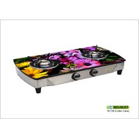 246 Bouquet 2 Burner Glass Top Gas Stove Fruitish Design