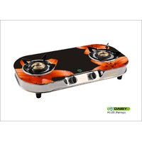 255 Daisy  2 Burner Glass Top Gas Stove Fruitish Design