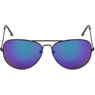 Colorfast 3025 Black Blue Mirror Aviator Sunglasses