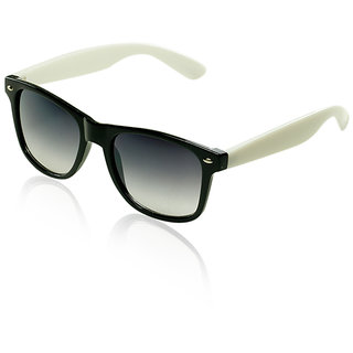 Leaf Unisex Wayfarer Sunglasses - Black White
