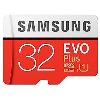 Samsung EVO Plus Grade 3 Class 10 32GB MicroSDXC 100 MB/S Memory Card with SD Adapter (MB-MC32GA/IN)