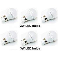 Led bulbs 3 watt Cool White (Set of 6 pcs)