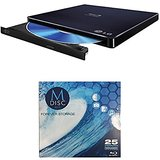 LG 6x WP50NB40 Ultra Slim Portable Blu-ray Writer Bundle with 1 Pack M-DISC BD - Supports M-DISC and BDXL Discs, Mac OS X Compatible (Black, Retail)